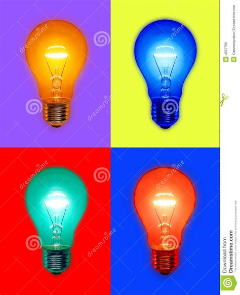 color light bulbs colored light bulbs stock photo image of glowing