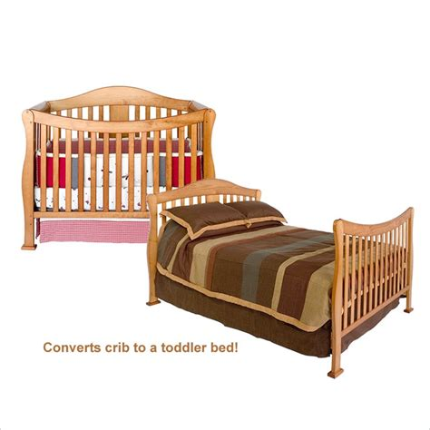 Convertible Crib Bed Davinci 4 In 1 Convertible Wood W Size Bed Rail Kit Oak Crib Set Ebay