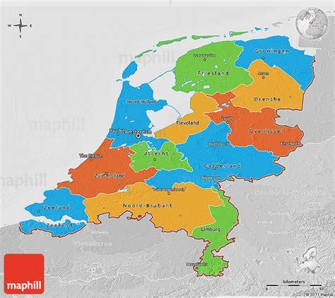 political map of the netherlands political 3d map of netherlands lighten desaturated