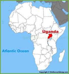 where is uganda on the world map uganda location on the africa map