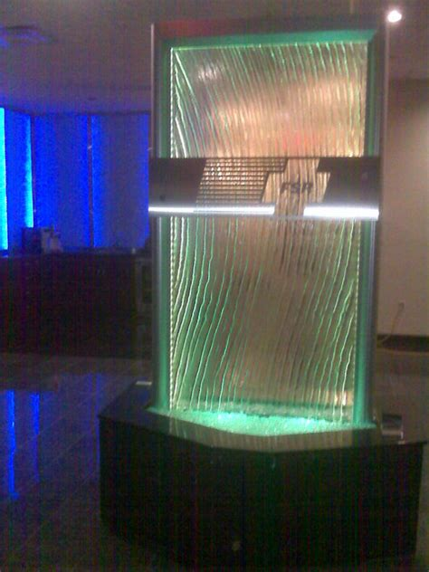 glass waterfall with led at fsr lakemary www visualartisan