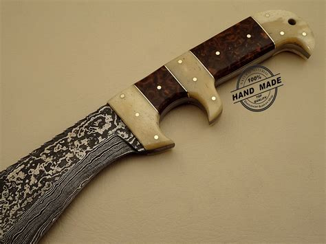 custom made bowie knives new damascus bowie knife custom handmade damascus