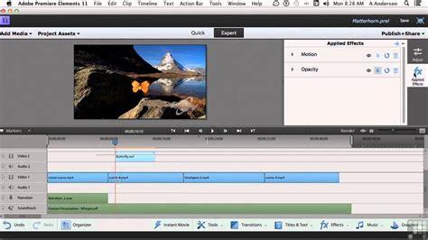 tutorial adobe premiere elements 11 adobe premiere elements 11 tutorial adding motion