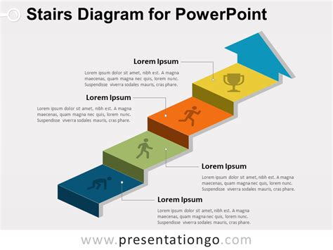 diagram stairs diagram for powerpoint presentationgo