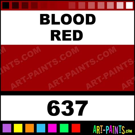 blood red color code blood red classic acrylic paints 637 blood red paint