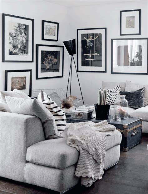 gray black and white living room decordots cozy monochrome home in