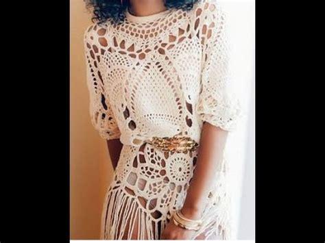 tejidos elegantes de crochet tejidos a crochet faldas vestidos capas blusas youtube