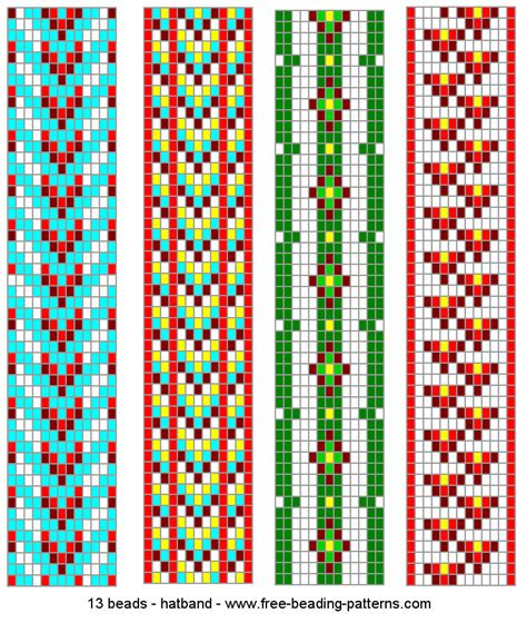 loom bead patterns 13 wide hatband beading loom patterns 2