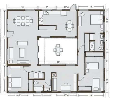 Home Plans With Courtyard Courtyard House House Plans When You Buy That