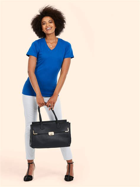 Kaos Polos Basic Pink V Neck High Quality Cotton product uc319 classic v neck t shirt
