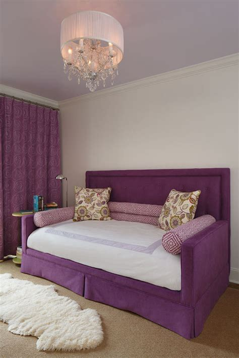 headboard for daybed purple daybed with headboard contemporary girl s room