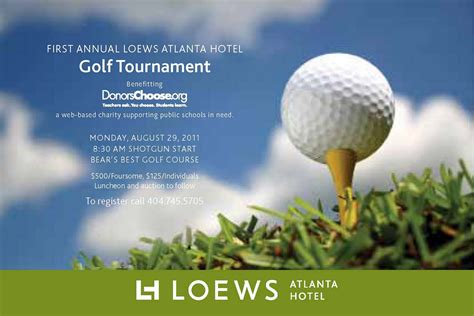 golf tournament flyer template everything midtown atlanta join loews atlanta hotel for