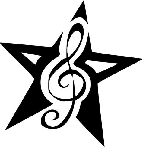 tattoo clip art png treble clef star tattoo by dumaii clip art at clker com
