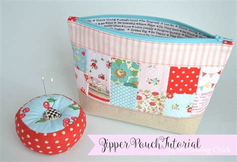 pattern for zippered pouch the sewing chick zipper pouch tutorial