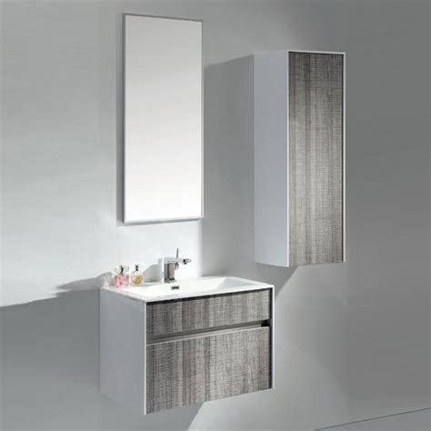 Modern Wall Mounted Bathroom Vanities Modern 24 Inch Wall Mounted Bathroom Vanity With White Integrated Sink
