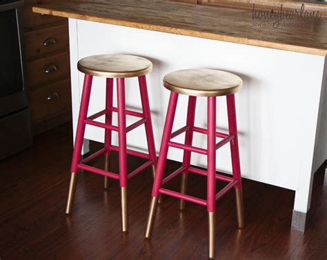how to paint a bar stool diy dipped bar stools decor hacks