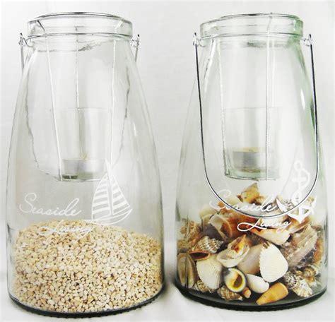 Teelichthalter Basteln Glas by Gro 223 Es Glas Windlicht Teelichthalter Mit Henkel