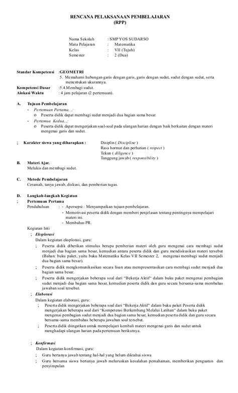 Penggaris Matematika Paket rpp matematika kls 7 smester ii thn 2015 limbong 02