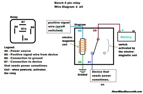 relay wiring diagram positive ground wiring diagram schemes