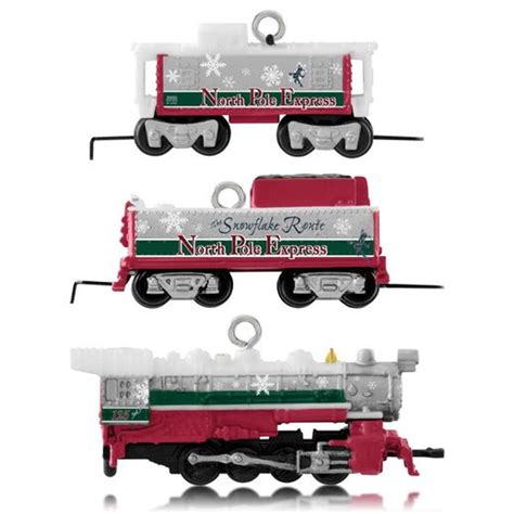 hallmark 2014 lionel north pole express set of 3 miniature