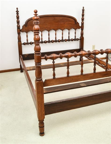 four poster bed frame antique walnut size four poster bed frame ebth