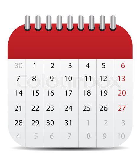 calendar icon isolated  white mobile stock photo