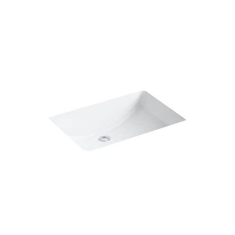 kohler ladena 23 14quot undermount bathroom sink in white