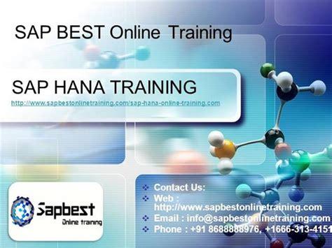 Sap Hana Online Training Authorstream Sap Powerpoint Template