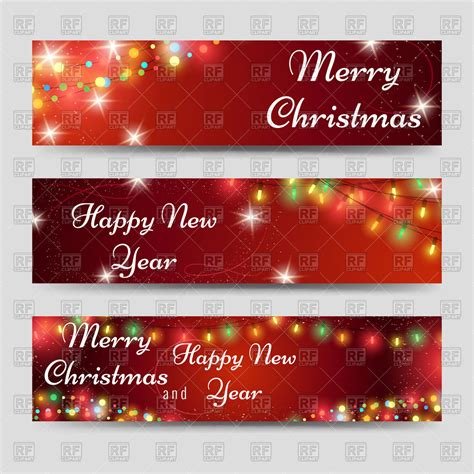 templates for christmas banners christmas and new year banners template vector clipart
