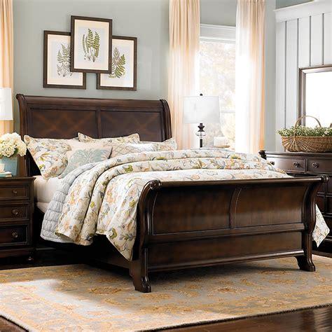Dark Finish Queen Sleigh Bed