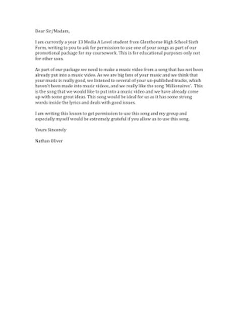 Permission Letter Of Ba 2nd Year Nathan Oliver Permission Letter