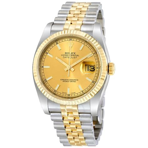golden rolex rolex oyster perpetual datejust 36 chagne