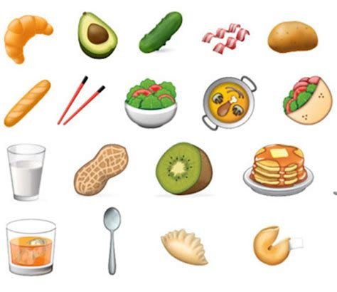 emoji food new food emojis are coming in 2017 myfoodbook