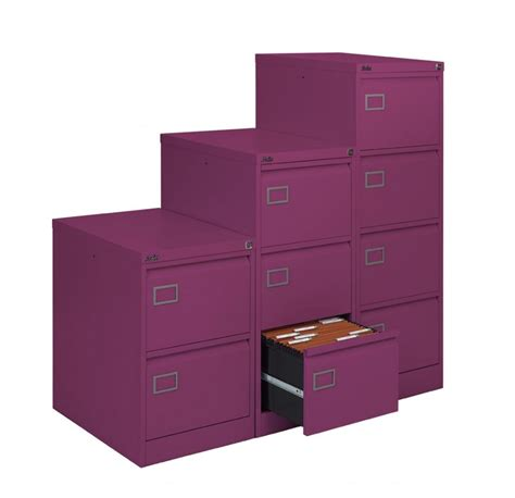 Purple Filing Cabinet Purple Executive Filing Cabinet 4 Drawers