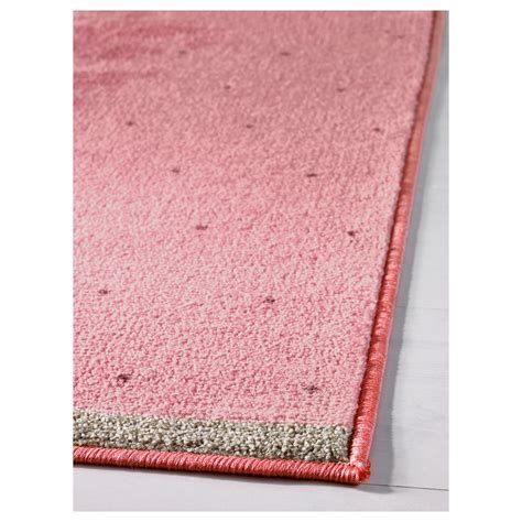 low pile rug raring rug low pile pink 133x160 cm ikea