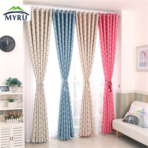window curtains for kids 2017 polka dots blackout window curtains children curtain