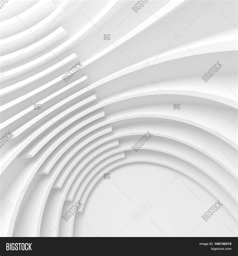 design photo stock white architecture circular background modern building