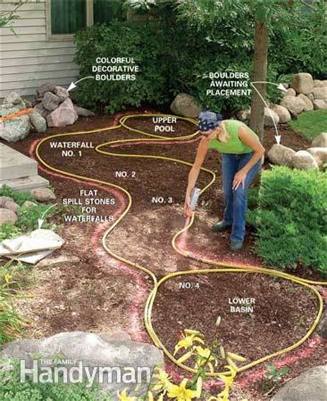 how to make a backyard waterfall diy garden waterfalls the garden glove