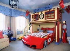 bedroom furniture in car theme home interior design
