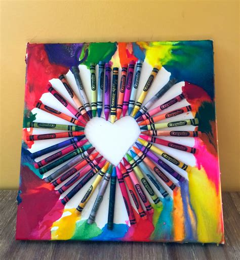 arts crafts projects easy crayon only takes 45 minutes to make for