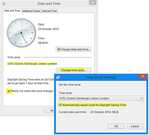 will my phone automatically change daylight savings time daylight saving time in windows 10 8 7