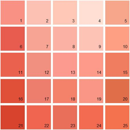 benjamin color swatches salmon pink color palette