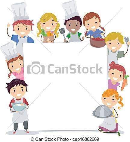 Clip Art Vector of Cooking Classes Board   Illustration of