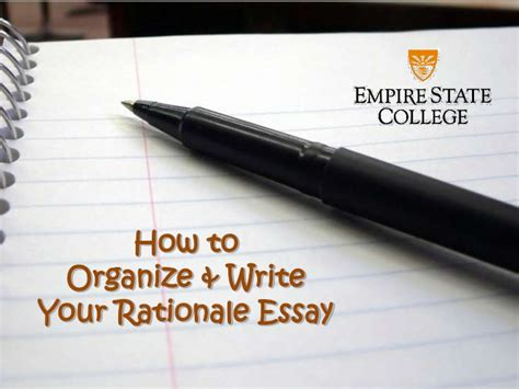 Suny Empire Mba by How To Write The Rationale Essay