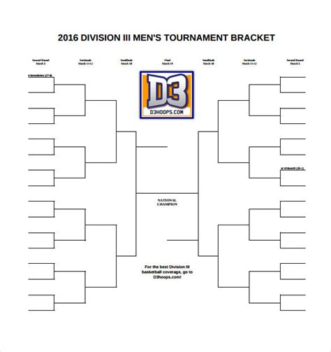 brackets templates sle tournament bracket 5 documents in pdf