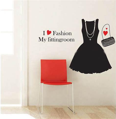 Fashion Wall Stickers i love fashion my fitting room wall sticker