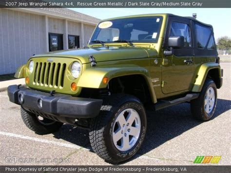 2007 Jeep Wrangler Green Rescue Green Metallic 2007 Jeep Wrangler 4x4