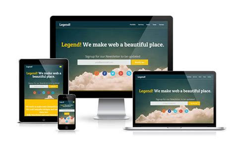 templates responsive free legend responsive html5 template html5xcss3