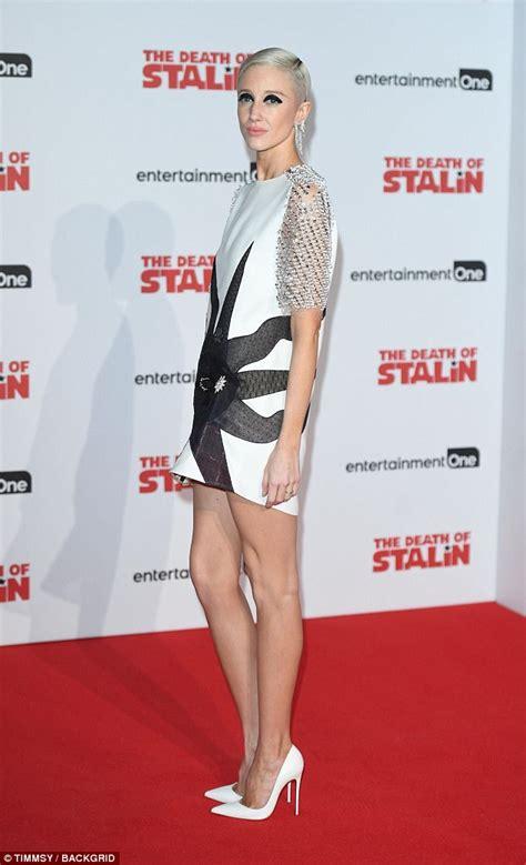 Tunic Andrea White andrea riseborough attends of stalin premiere