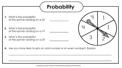 math worksheets grade 4 probability worksheet exle